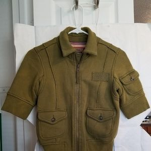 Free People size S olive green jacket EUC